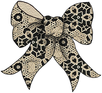 lace bow clipart - photo #2