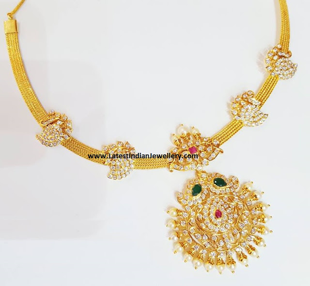 Diamond Addigai Necklace