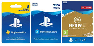 PlayStation Store Prepaid Cards for india