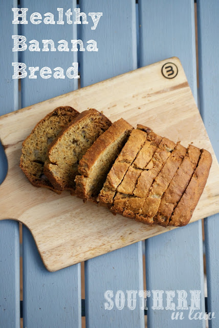 Healthy Banana Bread Recipe - Gluten Free Whole Wheat Low Fat