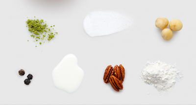 cake ingredient flatlay