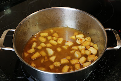 Preparación de lomo de ternera en salsa de manzana