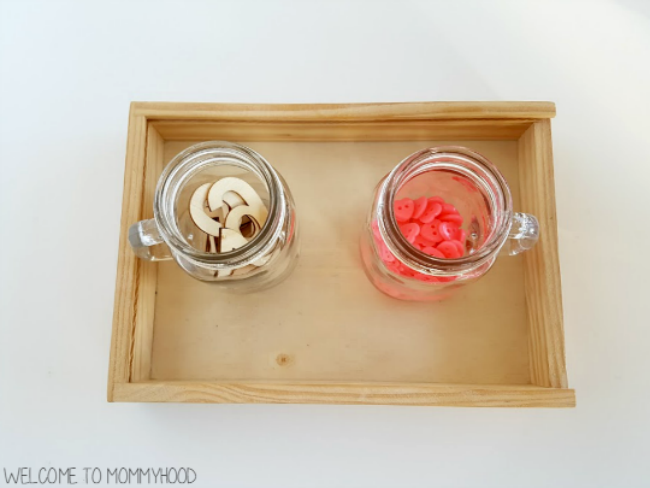 Valentine's Day Practical Life Activities for kids by Welcome to Mommyhood, #montessori, #montessoriactivities, #practicallife, #homeschool, #preschoolactivities, #toddleractivities