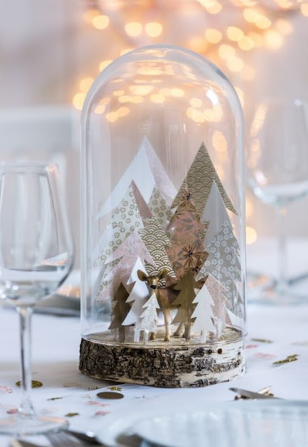 Jar and Glass as a Christmas Decoration