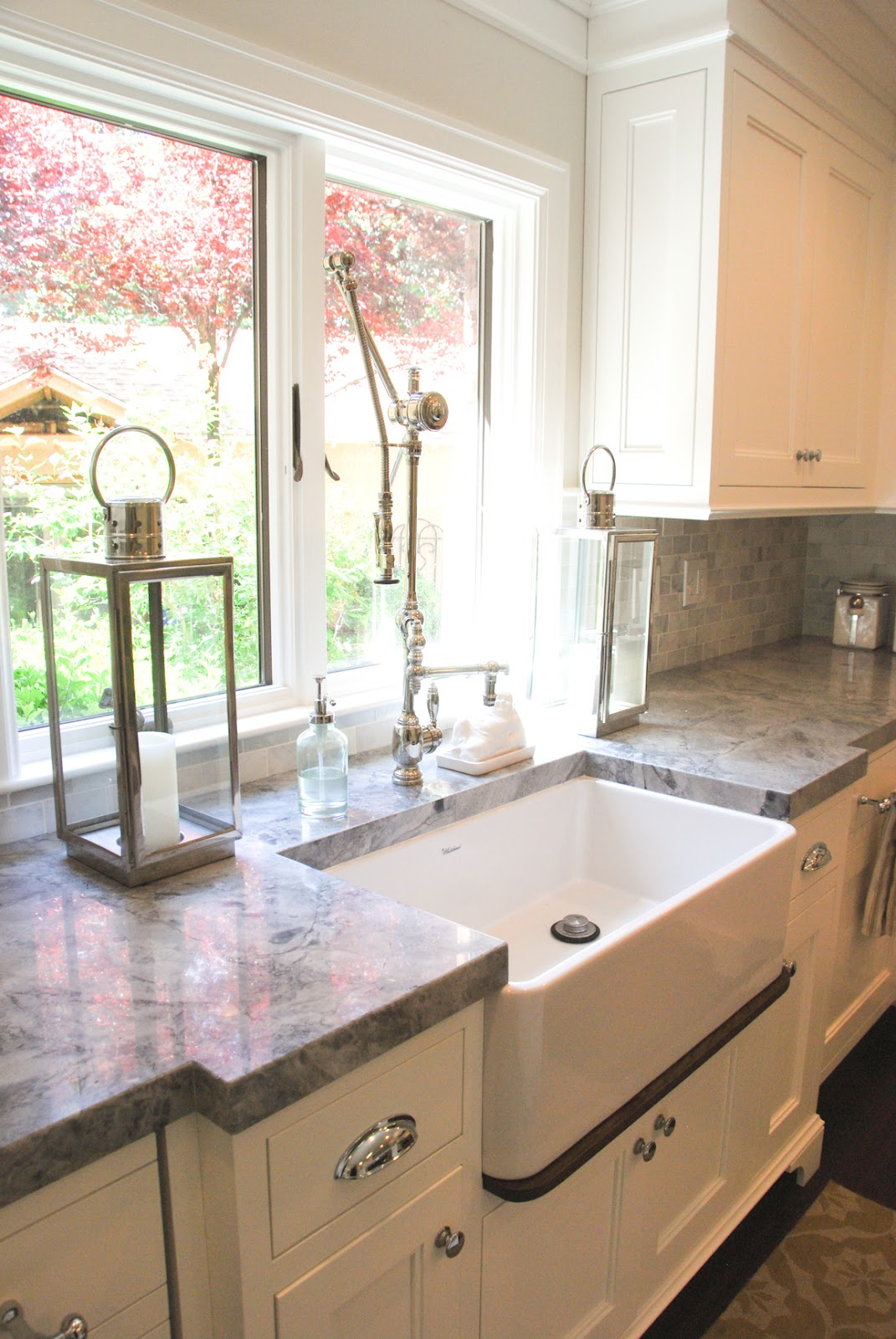 The Granite Gurus: Carrara Marble & Super White Quartzite ... on Kitchen Farmhouse Granite Countertops  id=93220