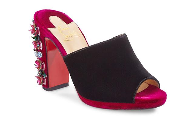 Christian Louboutin 'Donaflor' 100 Embellished Velvet Mules