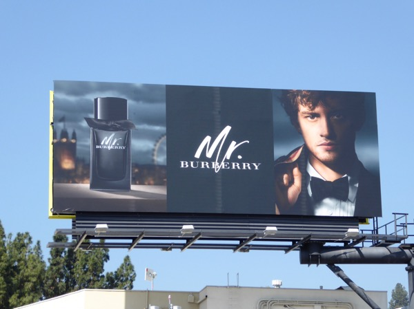 Mr Burberry S17 fragrance billboard