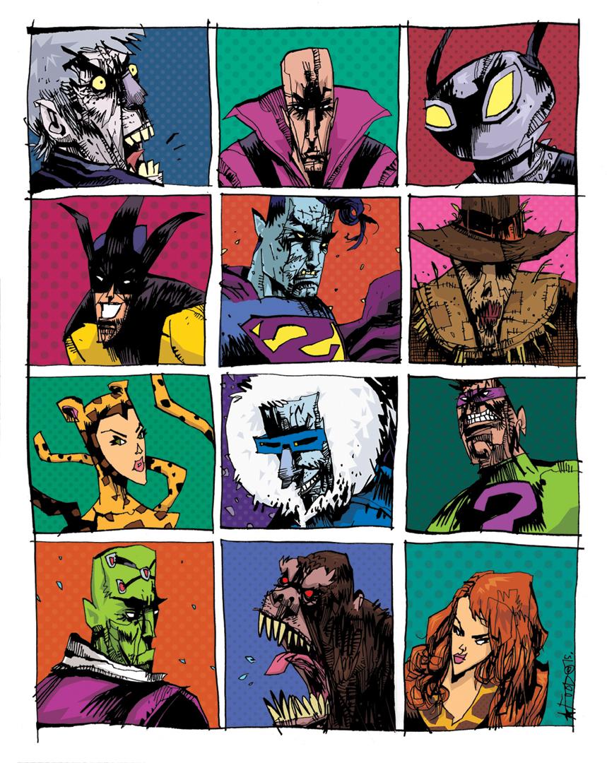 the blot says super friends legion of doom dc comics print by