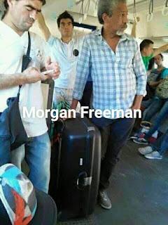 Parecidos de famosos en el transporte público morgan freeman