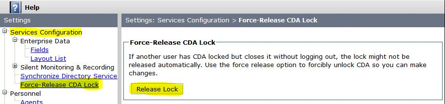 Cisco Desktop Administrator is locked by another user