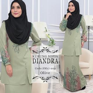 Kurung Sofia Diandra Yang Amat Cantik Dari Sweet Muslimah