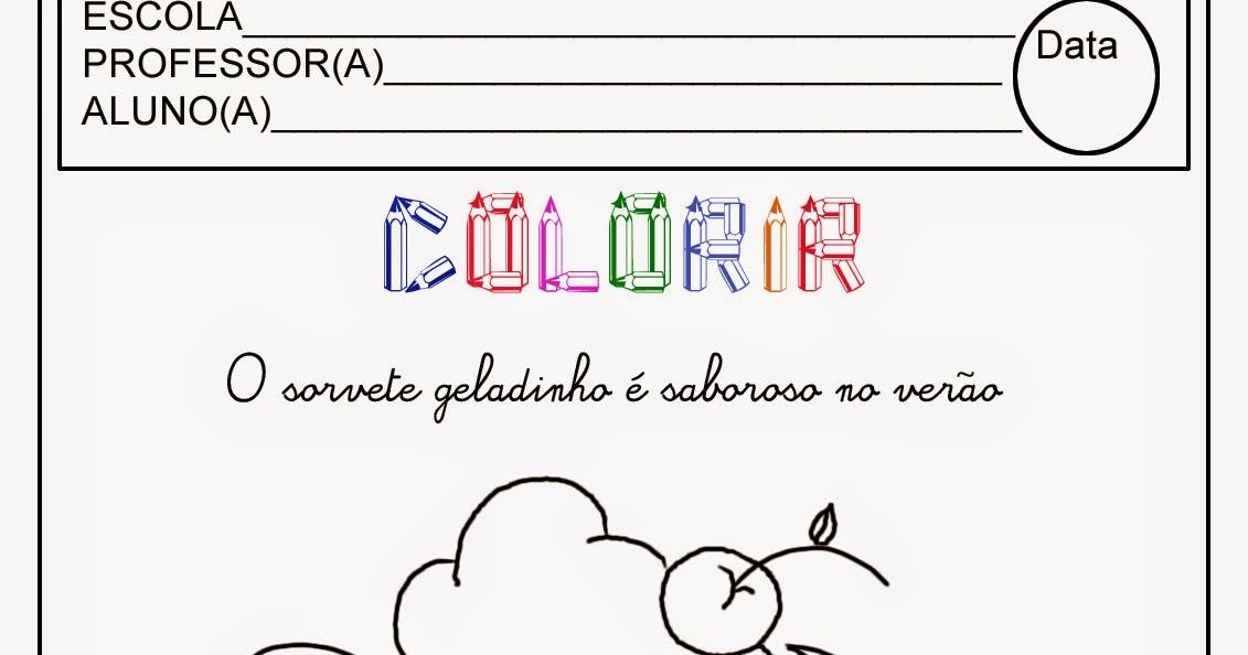 desenho de sorvete para colorir pintar imprimir espaÇo educar