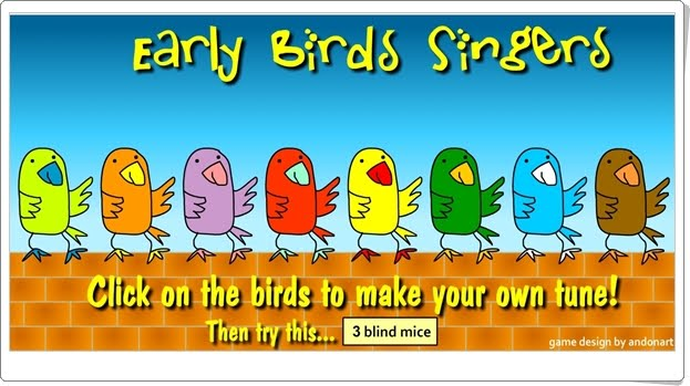 """""""Early Birds Singers"""" (Juego de Música)"""