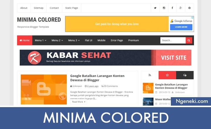 Template Blogger Minima Colored