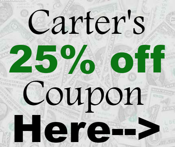 Carters Online Promo Codes 2021-2122, Carters Printable Coupon September, October, November