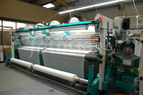 Rachel warp knitting machine used in textile sector