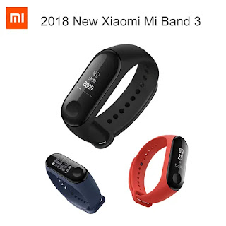 Original Xiaomi Mi band 3 Smart Wristband OLED Display 50M Waterproof Heart Rate Monitor Bracelet - Black