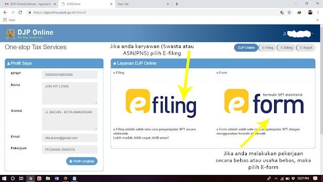 Melapor SPT Tahunan Online (E-Filling Formulir 1770 SS)