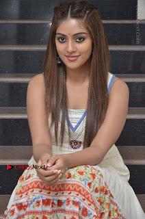 Telugu Actress Anu Emmanuel New Stills in Beautiful White Long Dress  0030.JPG