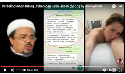 Heboh Video Perselingkuhan Habib Rizieq Dengan Seorang