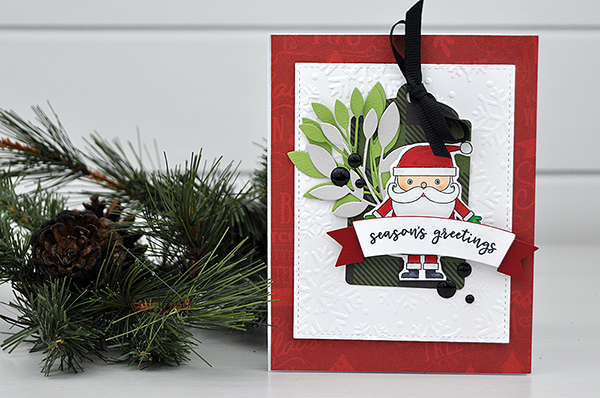 Season's Greetings Card created by Jen Gallacher for www.echoparkpaper.com. #stamping #diecutting #echoparkpaper #jengallacher