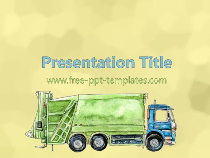 Waste Management PPT Template - waste management ppt