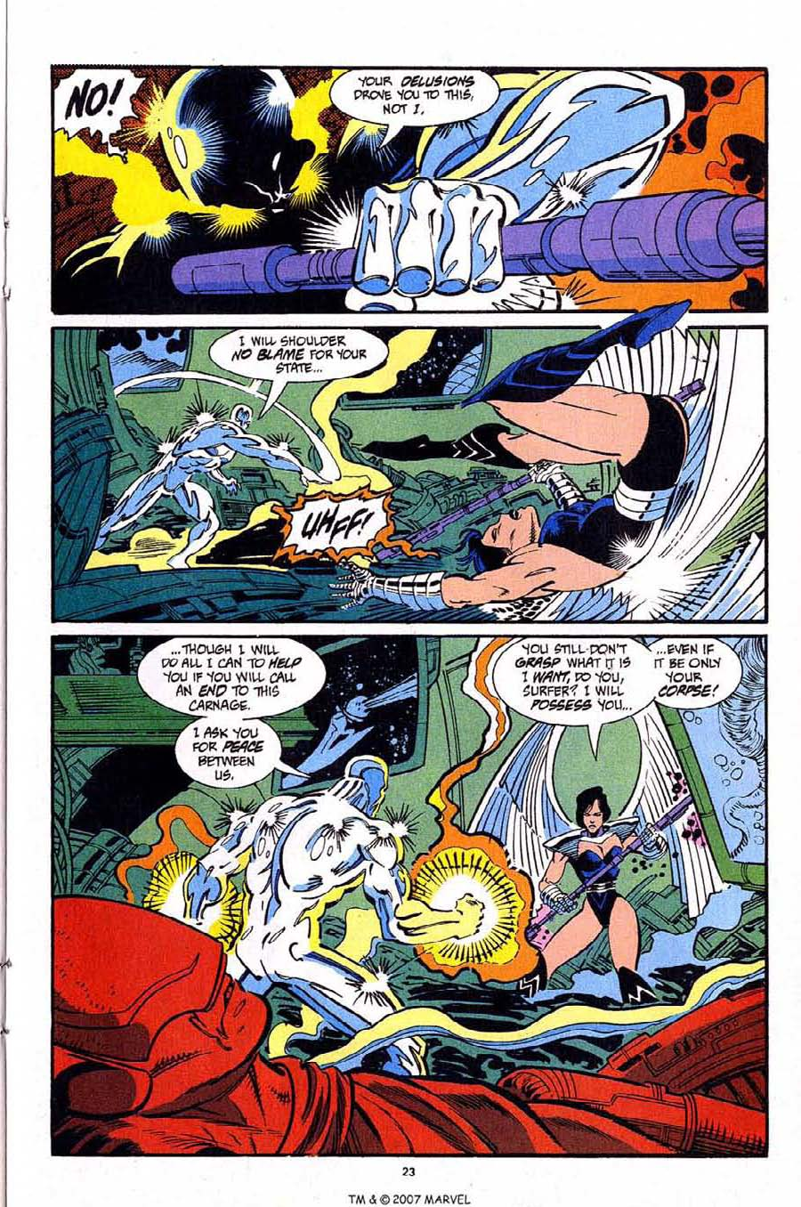 Read online Silver Surfer (1987) comic -  Issue #92 - 25