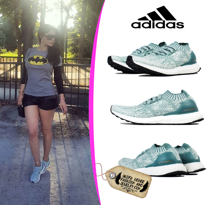 a1ab092f8c91d Haifa Wehbe Wearing Adidas Women s UltraBoost Uncaged Crystal White Sneakers