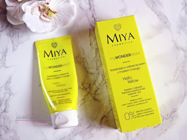 Hello Yellow MIYA Cosmetics, krem nawilżająco-odżywczy z masłem mango