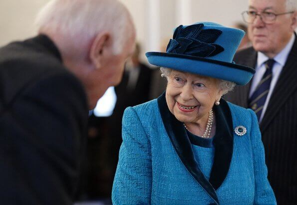 Queen Elizabeth opened the new headquarters of the Royal Philatelic Society, located at Abchurch Lane in London