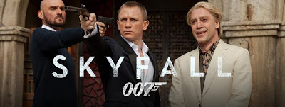 Daniel Craig as James Bond and Javier Bardem as Silva Skyfall