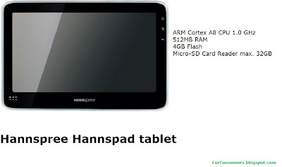 Hannspree Hannspad tablet