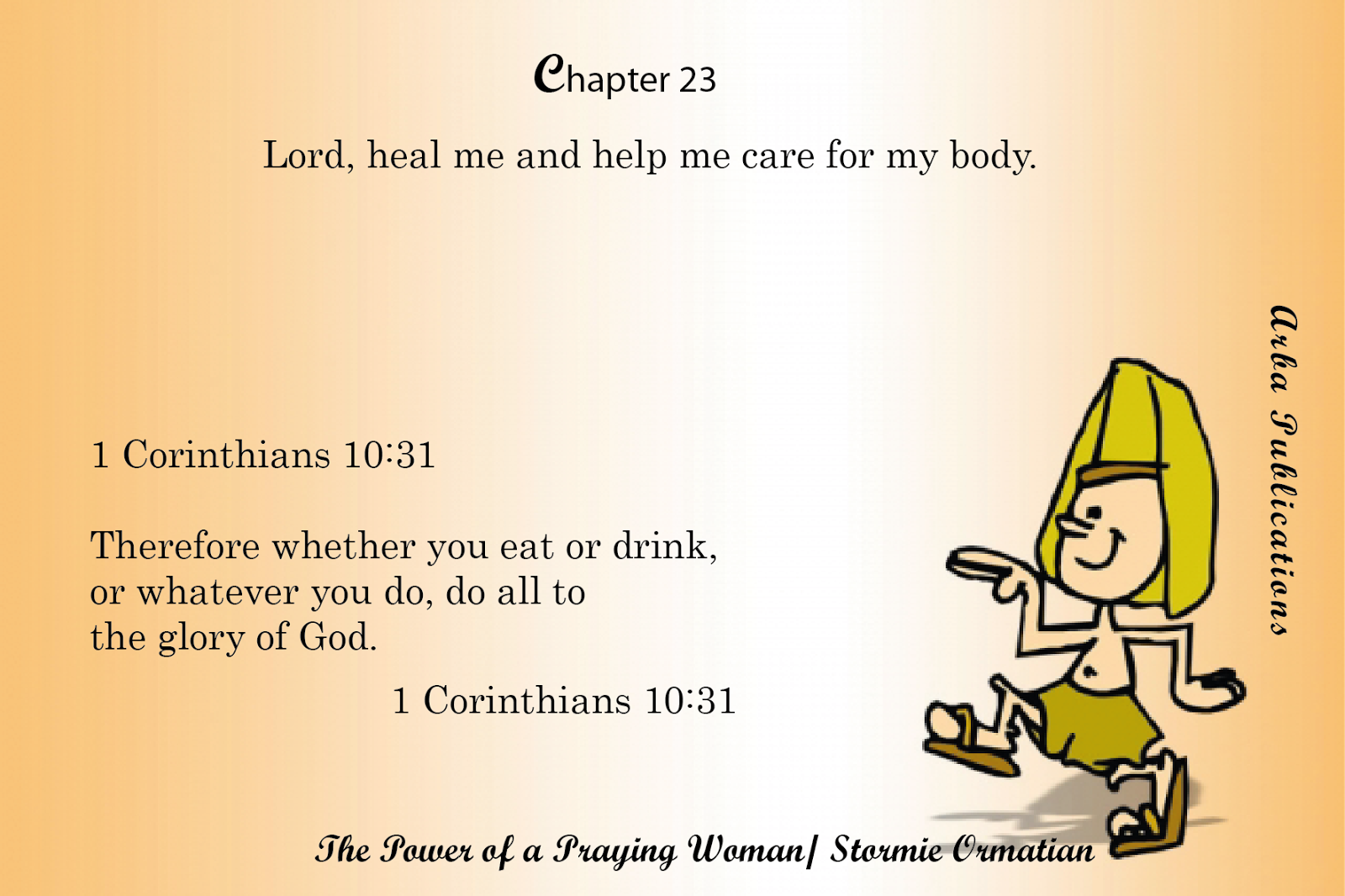 ARBA Publications: # Chapter 23: Lord, heal me and help me