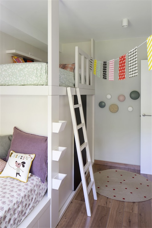 dormitorio infantil con literas chicanddeco