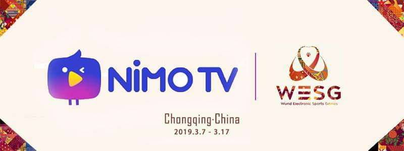 "Nimo TV and AliSports Becomes Broadcasting Partners of ""World Electronic Sports Games 2019"""