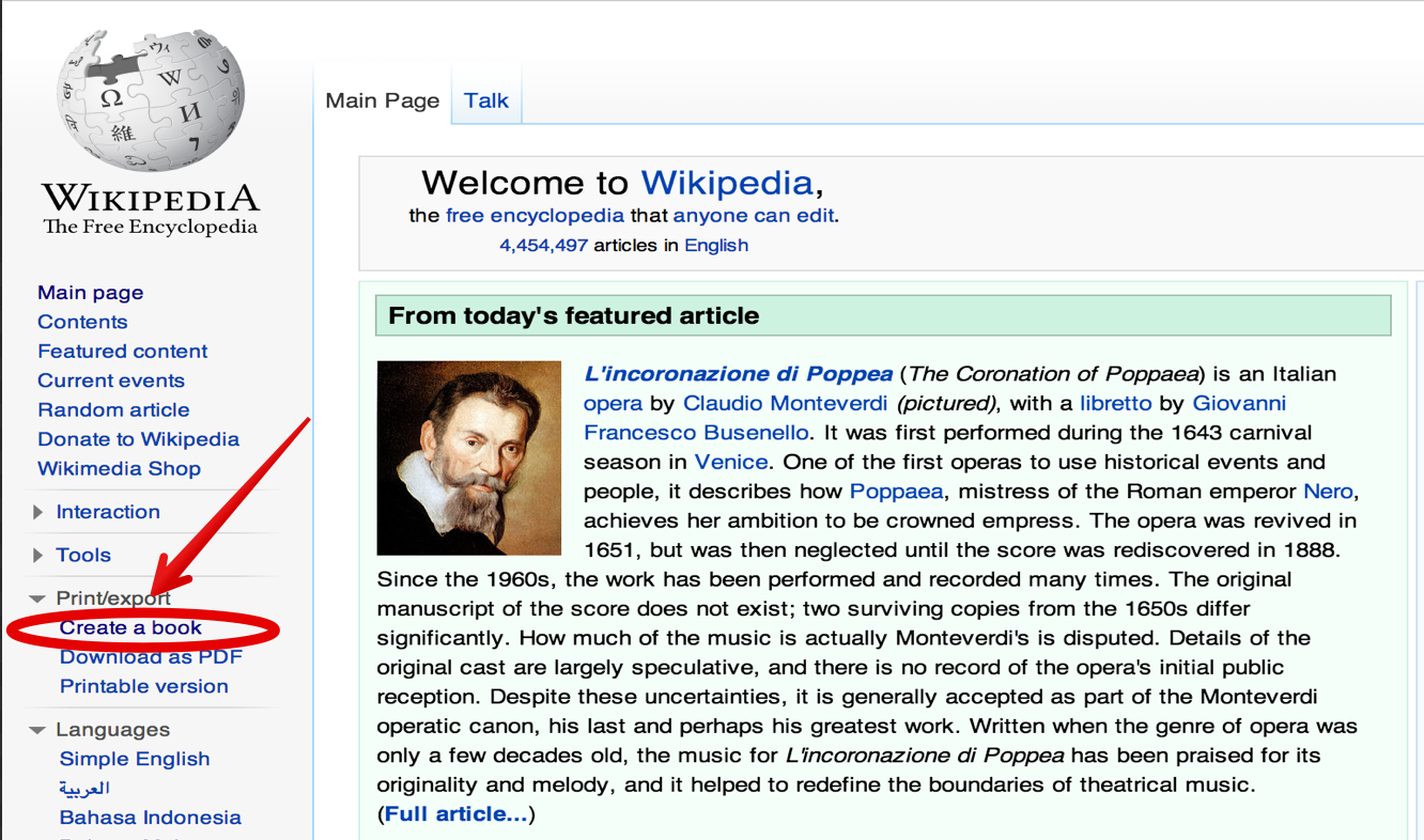 wikipedia how to create page