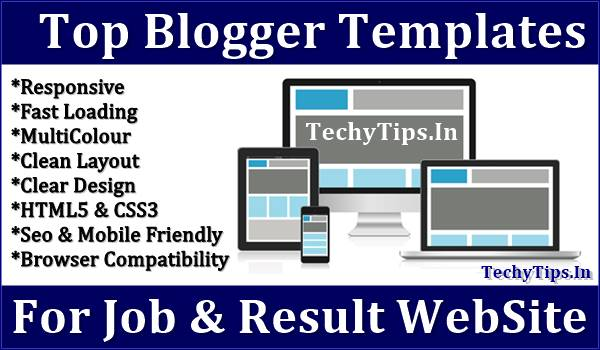 Top Blogger Templates For Job Sites 2019