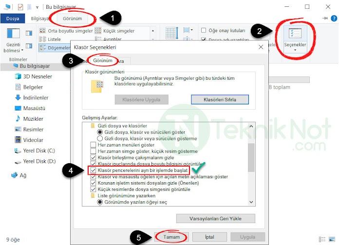 Explorer.exe Yeniden Başlama Sorunu Çözümü Windows 10