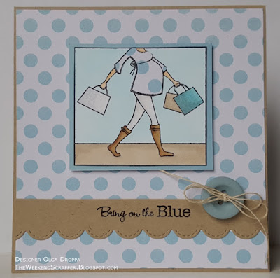 Handmade baby boy card using MFT Baby Bump set