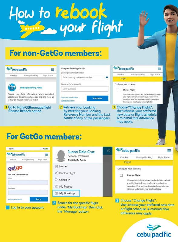 How to rebook my booking with cebu pacific air
