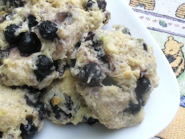 blueberry drop biscuits