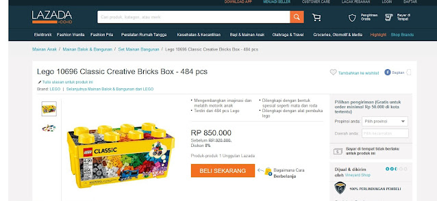 mainan anak lego 10696 classic creative bricks box