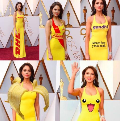 Eiza González Y Su Vestido Amarillo De Los Oscar Se