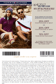 Tommy Hilfiger coupons april