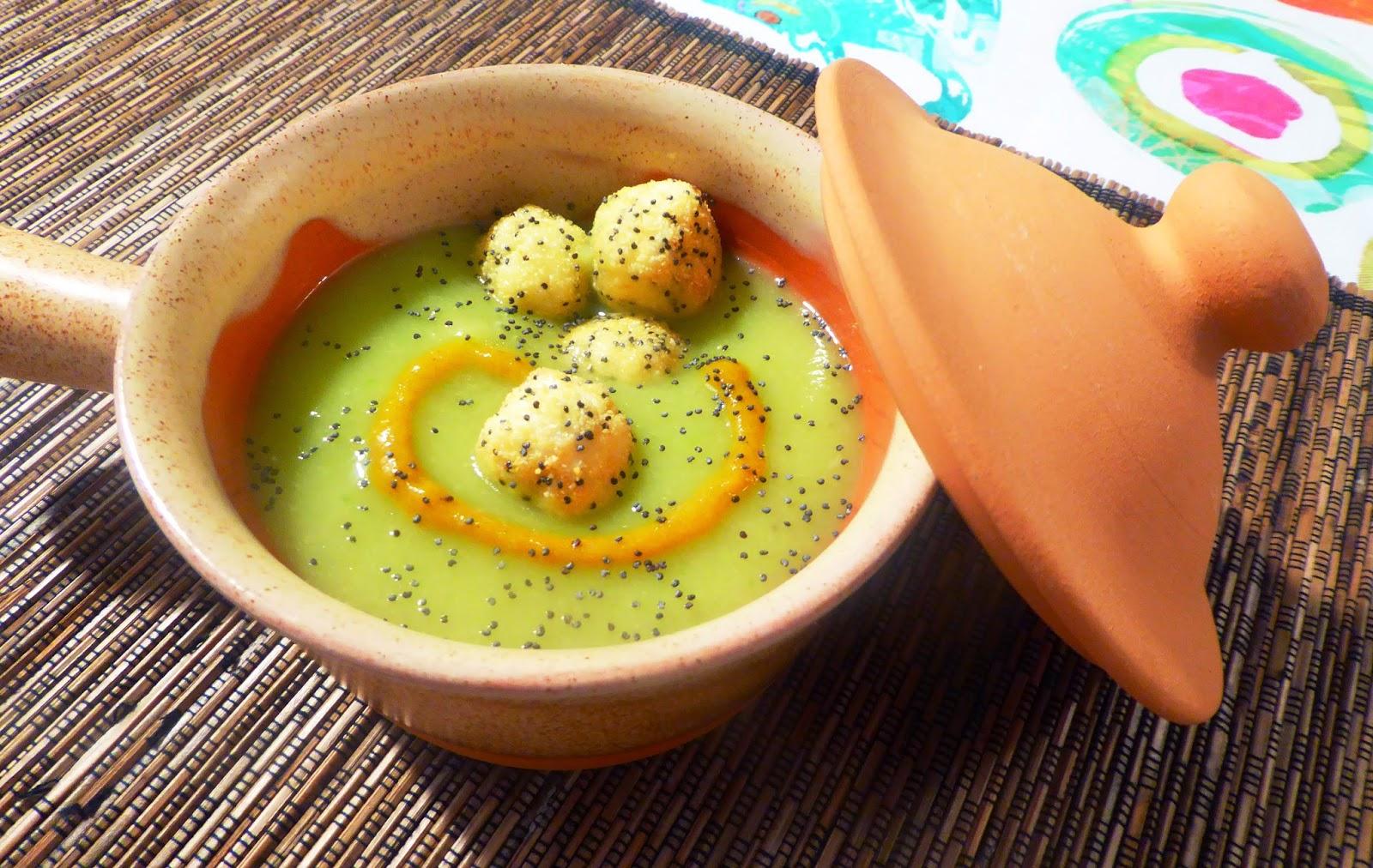 crema di zucchine alla curcuma con palline croccanti