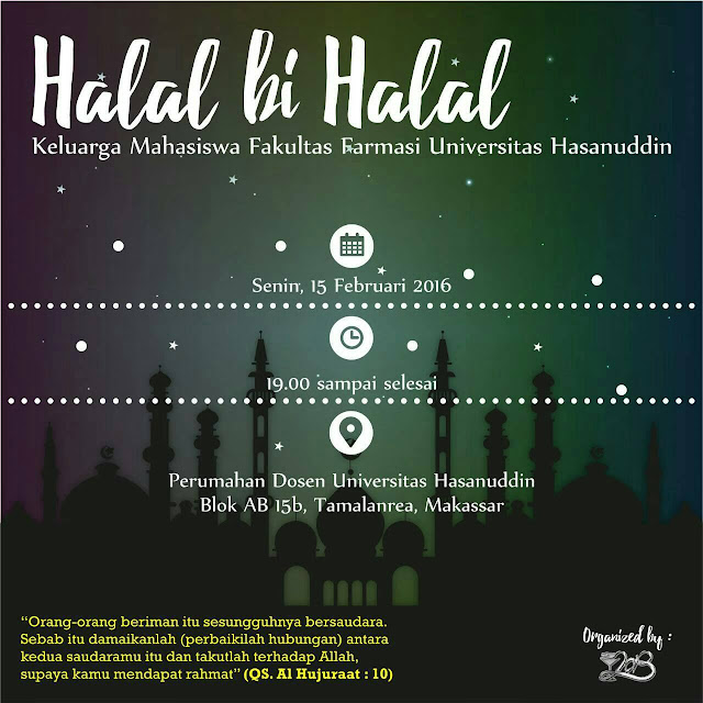 [ Agenda ] Halal bi Halal KEMAFAR-UH 2016