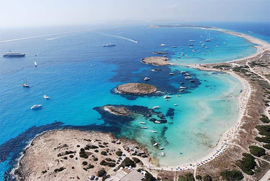 Increíbles playas en Formentera