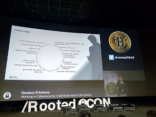 RootedCon 2019 - Gianluca D'Antonio - Working cybersecurity: truths and lies behind the trincee