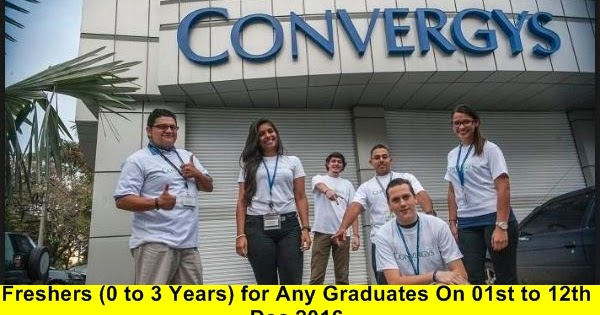 Convergys Freshers 0 To 3 Years For Any Graduates On