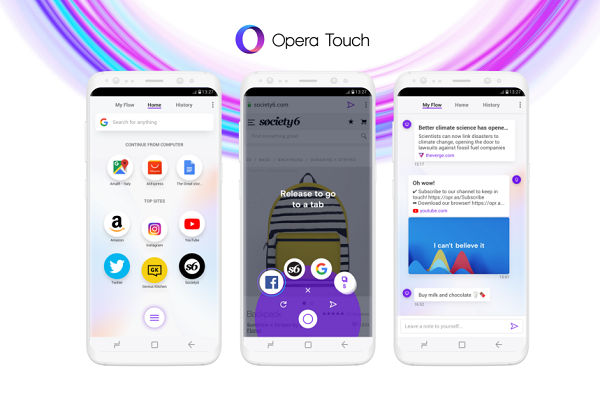 Opera Touch browser launches for Android, iOS app coming soon